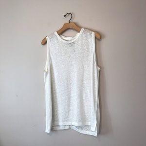 Rag&Bone white sleeveless top